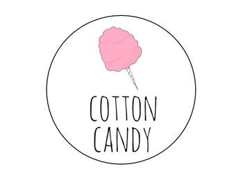 cotton candy tag etsy