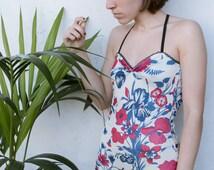 Carmen Backless Lingerie Bodysuit // Vintage 1970s Fabric // Wedding Lingerie -Made To Oder-