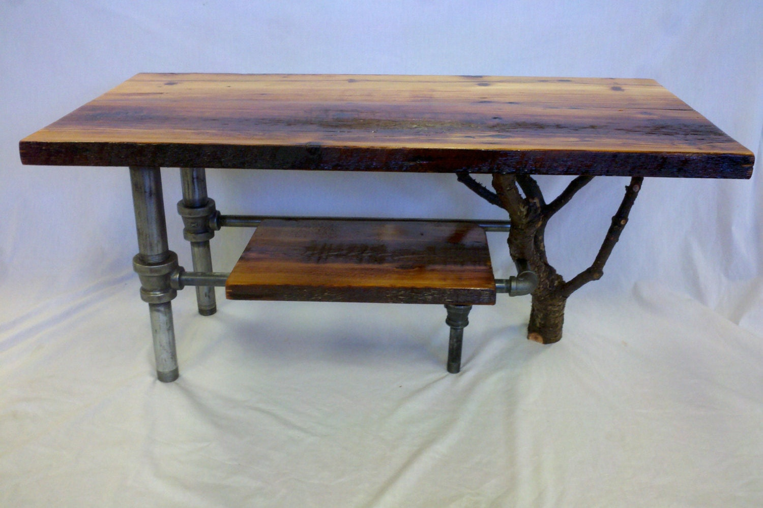 Industrial Rustic Natural Coffee Table