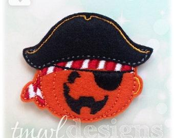 "Pumpkin Pirate Feltie Digital Design File - 1.75"""