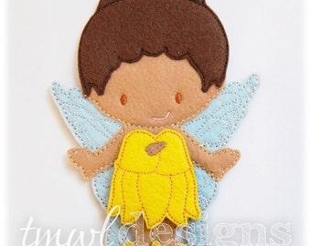 Sunflower Fairy Dress Felt Paper Doll Toy Outfit Digital Design File - 5x7
