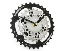Recycled Bicycle Gear Desk Clock, Bike Clock, Upcycled Clock, Eco Clock, Eco friendly Decor, Bicycle Clock, Cycling Gift, Bike, Gift for Him