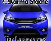 """24"""" Car Mustache Vinyl Decal Sticker - Style; Lumberjack - Color; Gray  -  Karma Stache: Your #1 Source for Car Mustaches!"""