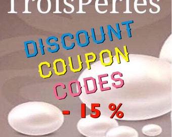 15% off discount coupon code - please do not purchase this listing