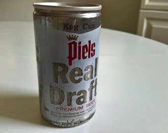 Vintage Piels Real Draft Beer Keg Can --- Retro Allentown Brewery Tavern Pub Bar --- Classic Cool Collectable USA Oktoberfest Home Decor