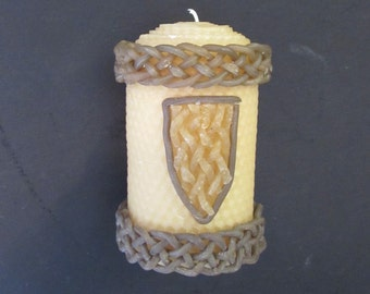 Beeswax Celtic Braid Candle