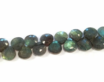 Labradorite faceted briolettes.  Approx. 7.25x7.25mm-7.5x7.5mm.   Select a quantity.