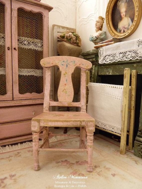 in miniatura legno arredamento shabby romantico rosa
