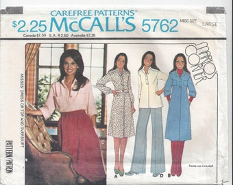 McCall's 5762 Pattern for Misses' Dress, Top, Overskirt, 1977, Size 18-20, Marlo's Corner, Marlo Thomas, FACTORY FOLDED & UNCUT, Vintage