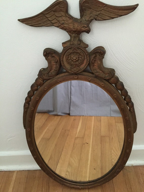 Federalist Mirror By Nurre Gesso Wood Oval Mirror Large