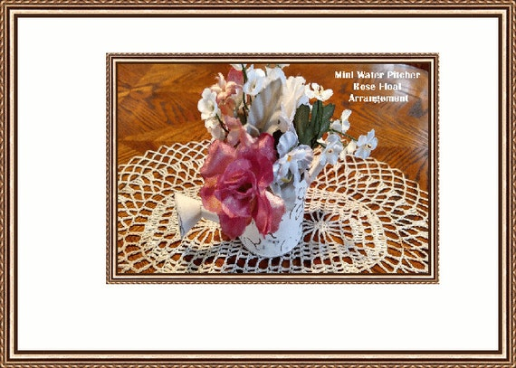 Water Pitcher Rose Floral Arrangement