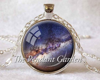 MILKY WAY NECKLACE Astronomer Gift for Astronomer Space Jewelry Astronomy Pendant Astronomy Jewelry Space Necklace