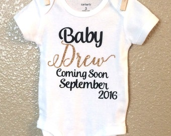 Coming Soon Shirt - Coming Soon Bodysuit - Baby Coming Soon Shirt - Baby Coming Soon Bodysuit - Pregnancy Announcement Shirt - Coming Soon