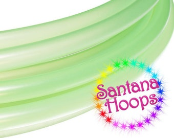 5/8 Mini Twins Translucent Green Polypro Hula Hoop Minis