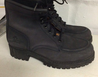 Dark blue leather panama jack boots vtg size EU 40