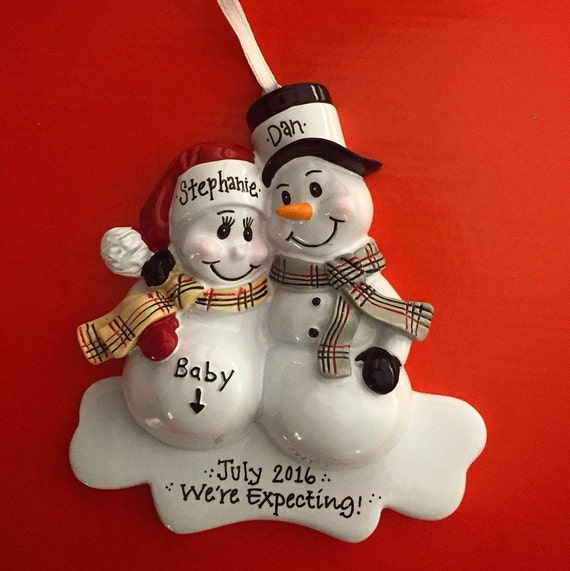 Expecting Parents Christmas Ornament / We're by AdornamentsNY
