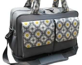 Diaper Bag, Double Stroller Bag, Large Messenger Diaper Bag, Inside divided into two sections. Large Changing Pad and Wet bag Are Included