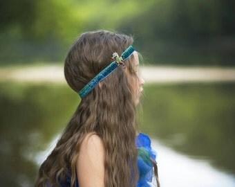 Teal headband, Seahorse headband, Mermaid headband, Ombre headband, Girls headband,  Beach Headband, Toddler headband, Seahorse birthday