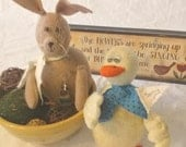 Plush Easter Duck, Mini Yellow Spring Duck Doll