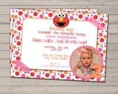 Elmo Inspired Birthday Invitation