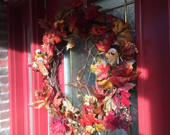 Fun Fall Wreath with Scarecrows -New Price!