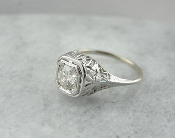 Antique 1800 S Rose Gold Engagement Ring With Square By
