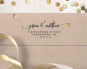 "Return Address Stamp, Self Inking Address Stamp, Housewarming Gift, DIYer Gift, Wedding Gift. Custom Address Stamp 3"" x 1.25"""