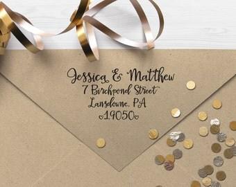 "Return Address Stamp, Self Inking Address Stamp, Housewarming Gift, DIYer Gift, Wedding Gift. Custom Address Stamp 2.5"" x 1.5"""