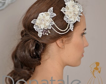 Wedding headband, Wedding hair piece , Bridal headpiece, Wedding headpiece , Bridal headband Wedding halo- MONIQUE