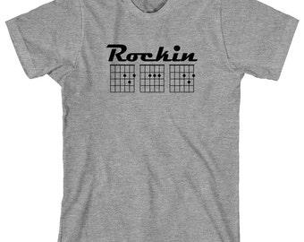 Rockin' Dad Shirt - D chord, A Chord, D Chord, guitar tab, father's day gift idea - ID: 1619
