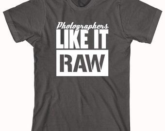 Photographers Like it Raw shirt, aperture, photog, photography, camera - ID: 158
