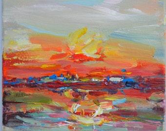sunset ORIGINAL painting