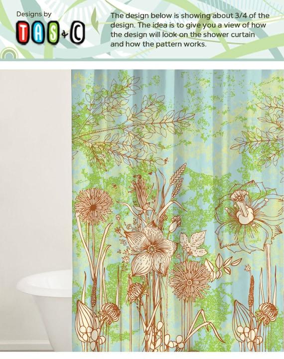 Flower Design Shower Curtain Custom Shower Curtains Gift
