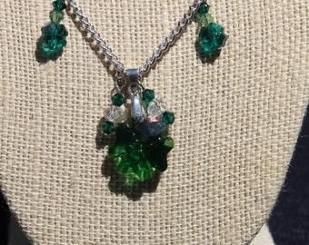 Swarovski crystal clover leaf necklace