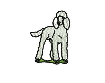 Standard Poodle  embroidery design