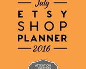 Etsy Shop Planner for July – 30-Day Traffic Boosting Plan + BONUS Holiday Gift Guide Media Contact List