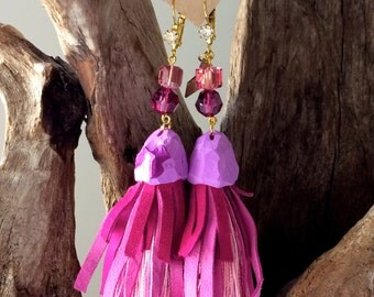 Handcrafted EARRINGS | Bright Fuchsia
