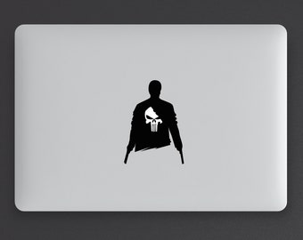 """Punisher shadow silhouette for your macbook pro and air, ipad, laptop, stickers decal for 11,13,15,17"""""""