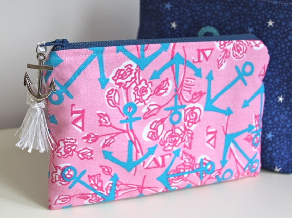 Anchors Nautical Jewelry Pouch Organizer