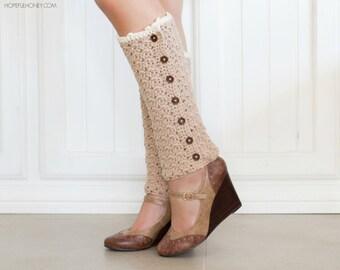 CROCHET PATTERN - Vintage French Leg Warmers