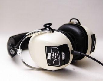 Vintage SANSUI Model SS-10 Stereo Dynamic Headphones Earphones