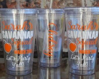 Savannah Georgia Bachelorette Party Tumbler Cup