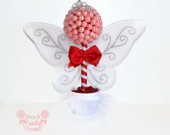 Lollipop Candy Sugar Plum Fairy Topiary, Fairy Lollipop Centerpiece, Nutcracker Centerpiece, Sugar Plum Fairy Centerpiece, Candy
