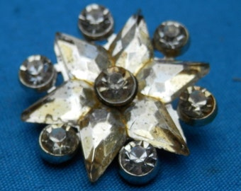 LG Star Vintage Rhinestone Button
