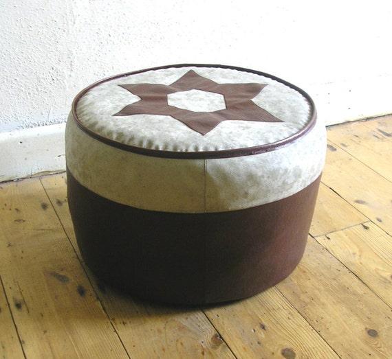 Ottomans Sherborne Ottoman: Vintage Sherborne 1960s Foot Stool Cushion Ottoman Pouffe
