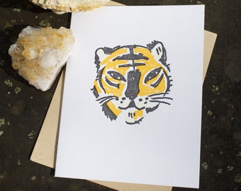 Hey Tiger - Letterpress Card - Tiger Card