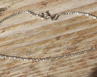 Vintage sterling silver fancy chain bracelet