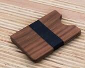 Reclaimed Walnut Wood Wallet // The Twin