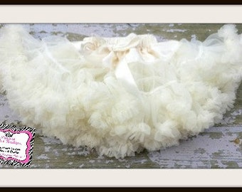 SALE!  Ivory Cream Premium Petti Skirts For Toddler to Big Girls