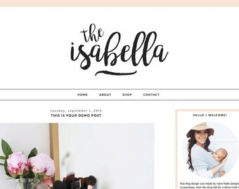 The Isabella - Premade Blogger Template